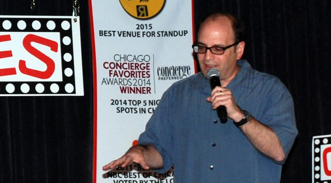 Comedian Larry Bloom of Highland Park performing at Zanies Chicago